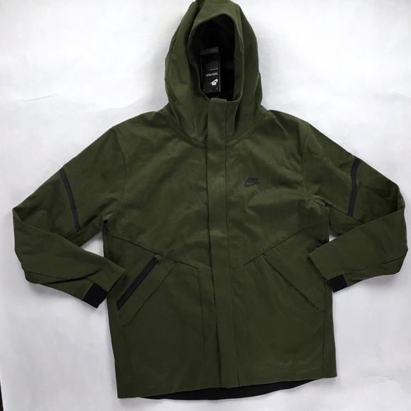 0213c81a80a03 Nike Jackets & Coats | Tech Fleece Repel Varsity Jacket Olive Green ...